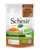 , Organic wet food for sterilized cats  – Sterilized BIO Chicken and Pork with pumpkin 85g pouch, Schesir - Natural Food For Dogs And Cats