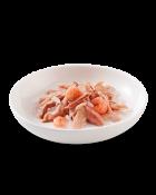 , Cibo umido per gatti adulti con pesce – Tonnetto con gamberetti multipack 6×50 g, Schesir - Alimenti Naturali Per Cani E Gatti