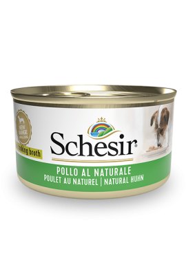 , Wet food for adult dogs – Natural Chicken 85g can, Schesir - Natural Food For Dogs And Cats
