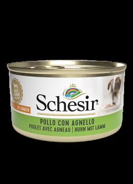 , Cibo umido per cani adulti – Pollo con agnello lattina 85 g, Schesir - Alimenti Naturali Per Cani E Gatti