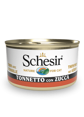 , Wet cat food with fish – Tuna with Pumpkin, 85g can, Schesir - Natural Food For Dogs And Cats