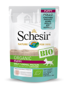 , Organic wet food for dogs with a single source of protein – BIO Chicken Puppy 85g pouch, Schesir - Natural Food For Dogs And Cats