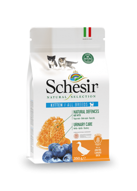 , Crocchette naturali per gatti cuccioli – Kitten Ricco in anatra sacco 350 g, Schesir - Alimenti Naturali Per Cani E Gatti