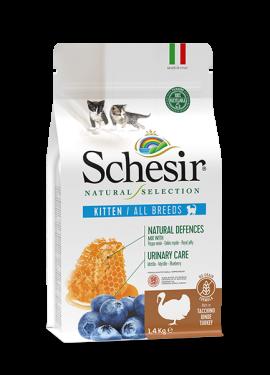 , Crocchette naturali per gatti cuccioli – Kitten Ricco in tacchino sacco 1,4 kg, Schesir - Alimenti Naturali Per Cani E Gatti