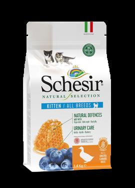 , Crocchette naturali per gatti cuccioli – Kitten Ricco in anatra sacco 1,4 kg, Schesir - Alimenti Naturali Per Cani E Gatti