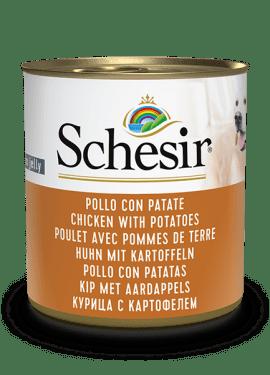 , Cibo umido per cani – Pollo con patate lattina 285 g, Schesir - Alimenti Naturali Per Cani E Gatti