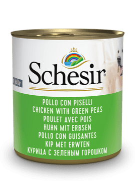 , Wet dog food – Chicken with Peas, 285g can, Schesir - Natural Food For Dogs And Cats