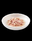 , Cibo umido per gatti con pesce – Tonnetto con Orata in brodo busta 70 g, Schesir - Alimenti Naturali Per Cani E Gatti