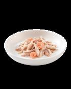 , Cibo umido per gatti – Tonnetto e pollo con gamberetti busta 50 g, Schesir - Alimenti Naturali Per Cani E Gatti