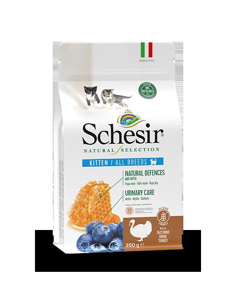 , Crocchette naturali per gatti cuccioli – Kitten Ricco in tacchino sacco 350 g, Schesir - Alimenti Naturali Per Cani E Gatti