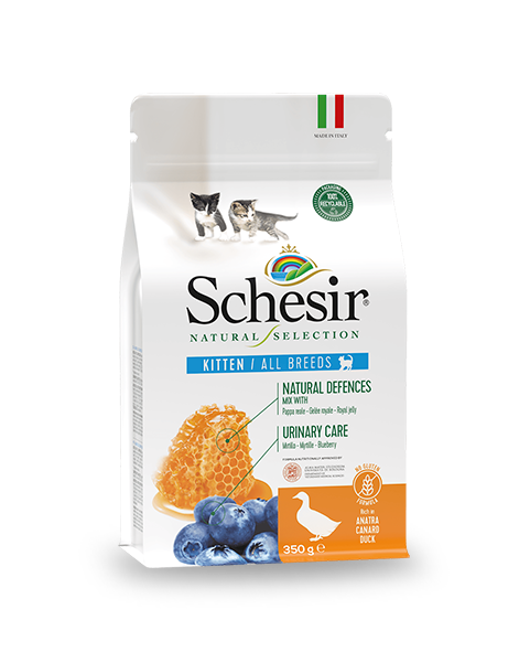 , Natural dry food for kittens – Kitten Rich in duck 350g, Schesir - Natural Food For Dogs And Cats