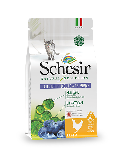 , Natural dry food for cats – Delicate Adult Rich in Chicken 1.4 kg bag, Schesir - Natural Food For Dogs And Cats