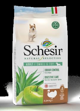 , Crocchette naturali per cani adulti – Small & Toy Adult  Ricco in tacchino sacco 2,24 kg, Schesir - Alimenti Naturali Per Cani E Gatti