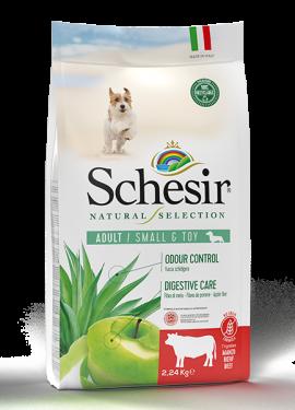 , Crocchette naturali per cani adulti – Small & Toy Ricco in manzo sacco 2,24 kg, Schesir - Alimenti Naturali Per Cani E Gatti