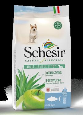 , Crocchette naturali per cani adulti – Small & Toy Adult Ricco in tonno sacco 2,24 kg, Schesir - Alimenti Naturali Per Cani E Gatti