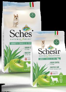 , Crocchette naturali per cani adulti – Small & Toy Adult Ricco in agnello sacco 2,24 kg + 490 g, Schesir - Alimenti Naturali Per Cani E Gatti