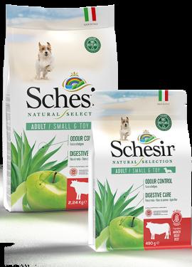 , Crocchette naturali per cani adulti – Small & Toy Ricco in manzo sacco 2,24 kg + 490 g, Schesir - Alimenti Naturali Per Cani E Gatti