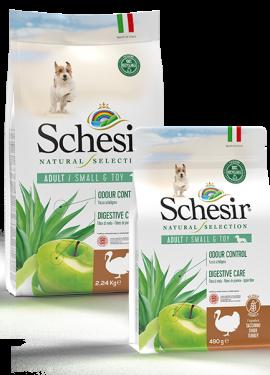 , Crocchette naturali per cani adulti – Small & Toy Adult  Ricco in tacchino sacco 2,24 kg + 490 g, Schesir - Alimenti Naturali Per Cani E Gatti