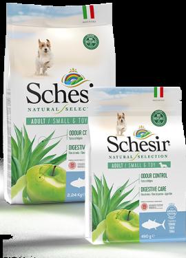 , Crocchette naturali per cani adulti – Small & Toy Adult Ricco in tonno sacco 2,24 kg + 490 g, Schesir - Alimenti Naturali Per Cani E Gatti