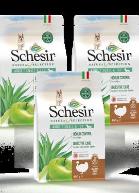 , Crocchette naturali per cani adulti – Small & Toy Adult  Ricco in tacchino sacco 3 x 490 g, Schesir - Alimenti Naturali Per Cani E Gatti
