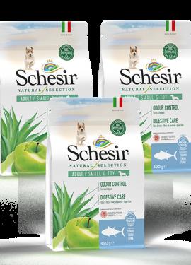 , Crocchette naturali per cani adulti – Small & Toy Ricco in tonno sacco 3 x 490 g, Schesir - Alimenti Naturali Per Cani E Gatti
