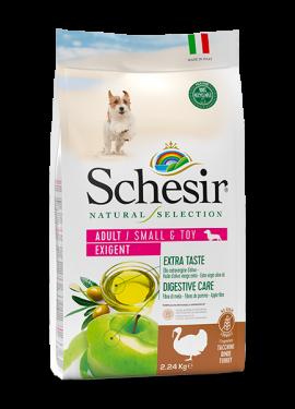 , Crocchette naturali per cani adulti – Small & Toy Adult Exigent Ricco in tacchino sacco 2,24 kg, Schesir - Alimenti Naturali Per Cani E Gatti