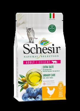 , Crocchette naturali per gatti – Adult Exigent Ricco in pollo sacco 1,4 kg, Schesir - Alimenti Naturali Per Cani E Gatti